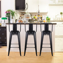 30 Inch Lowback Stool with PU Seat