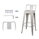 30 Inch Lowback Metal Stool