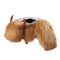 Brown Fur Cow Kids Storage Ottoman