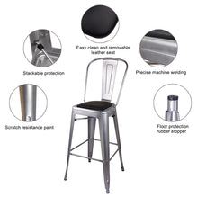 Metal Bar Chair with PU Cushion