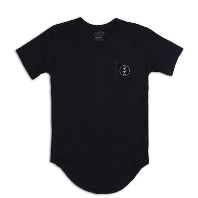Crest Scallop Tee Black Back