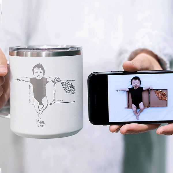 Custom Photo Engraving Water Bottle, Mug, Tumbler - LAMOSE