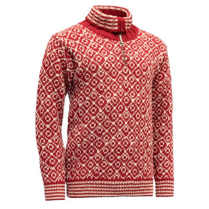 Svalbard Zip-neck  woolen sweater
