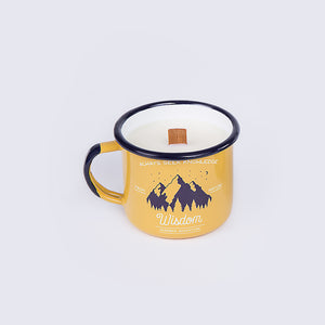 Apricot Enamel Mug with Candle | Wisdom