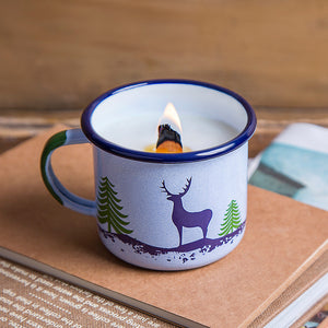 Deer Enamel Mug with Candle | Forest