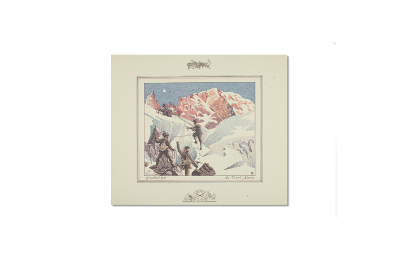 LITHOGRAPHIC PRINT: MONT BLANC