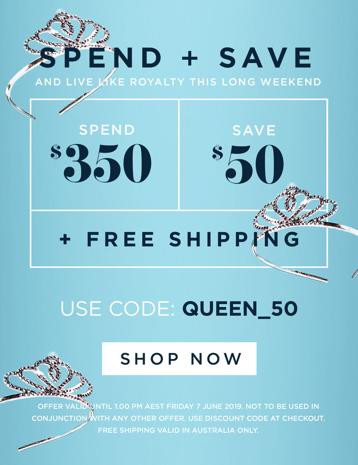 SPEND & SAVE THIS LONG WEEKEND