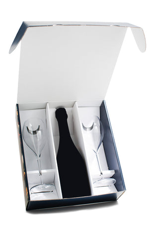 Mother's Day Gift Pack with Two Crystal Tulips + De Sousa Reserve