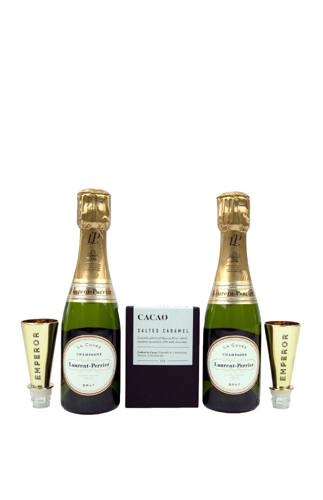 Laurent-Perrier Mini Champagne Bottles & Chocolate Gift Pack