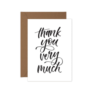 Thank you very much - Card