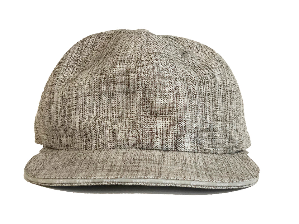 "Grey Linen ""Sandwich Brim"" Hat"