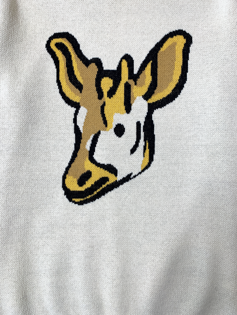 """Nada-Deer"" Jacquard Sweater"