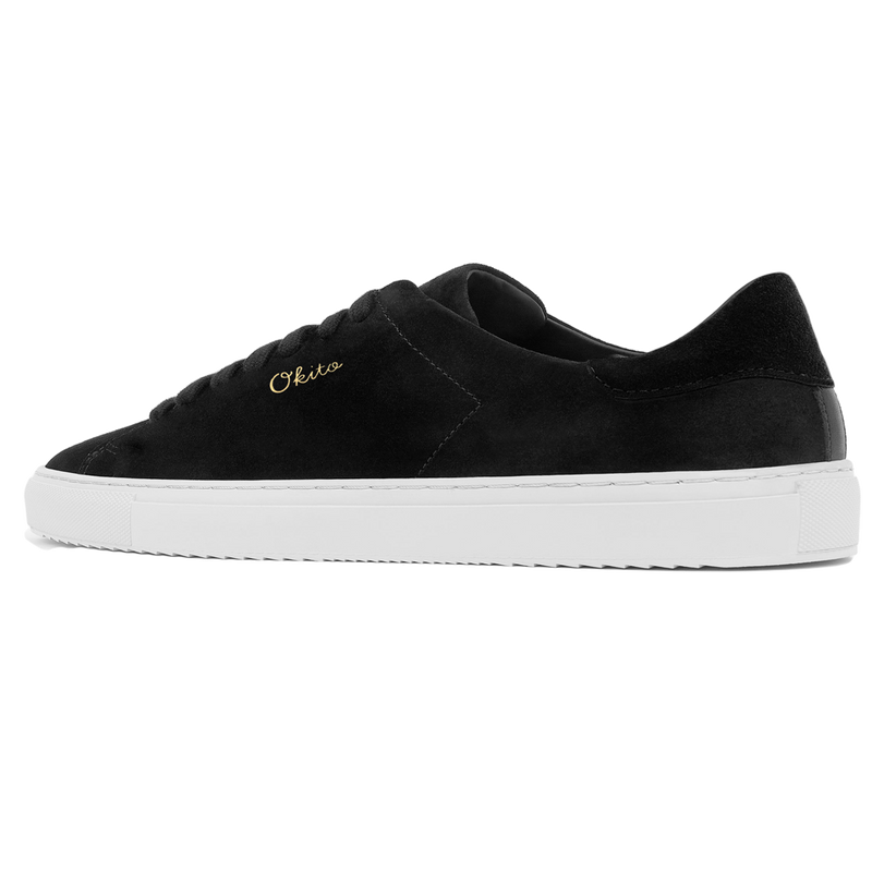 "Black Suede ""Perennials"" Sneakers"