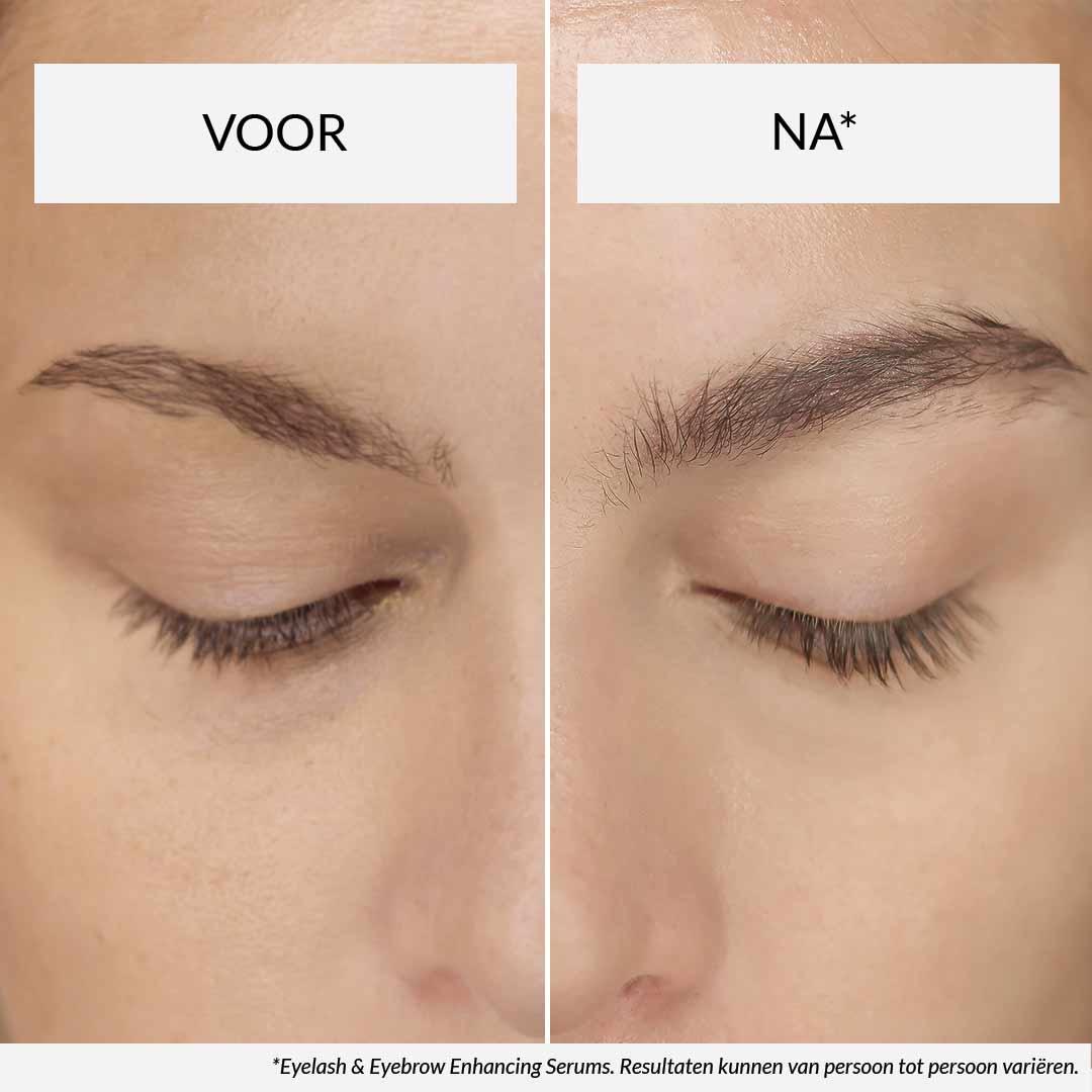 HairLust eyelash serum voor na