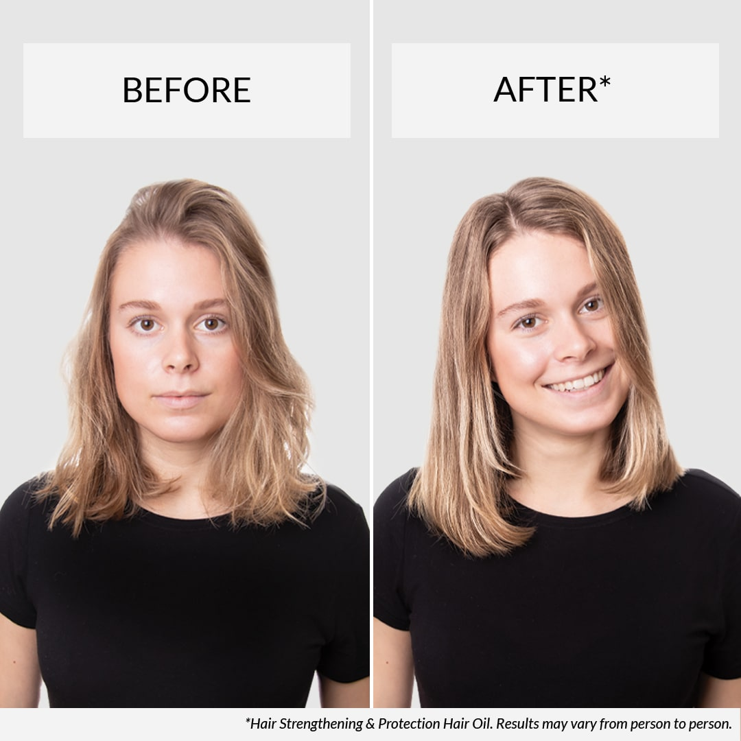 Before & after Hair Oil