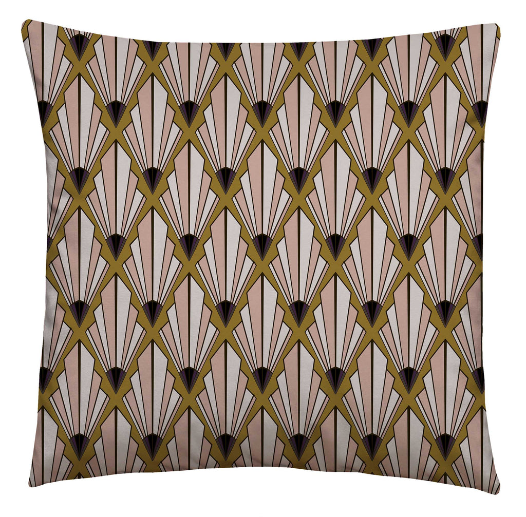 Deco Fan Boudoir Square Cushion