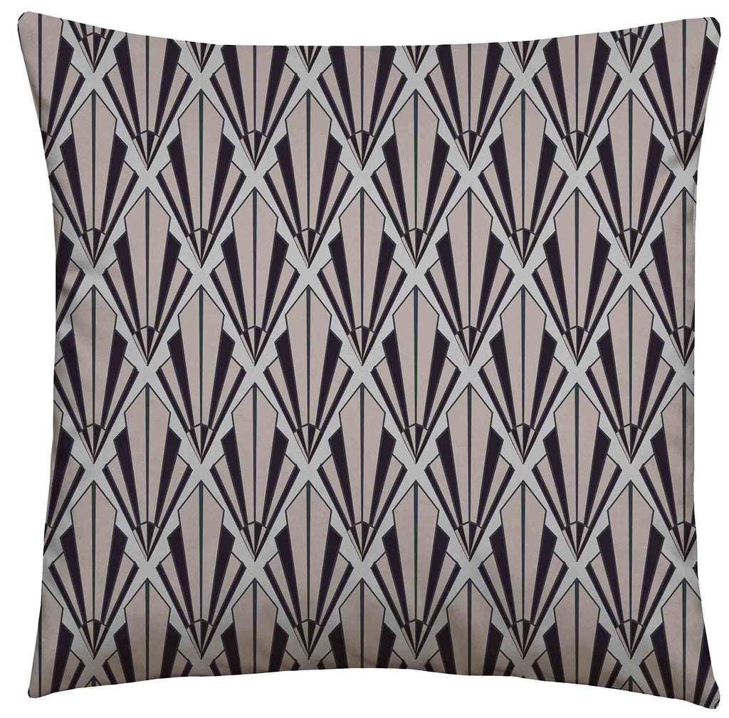 Deco Fan Humbug Square Cushion