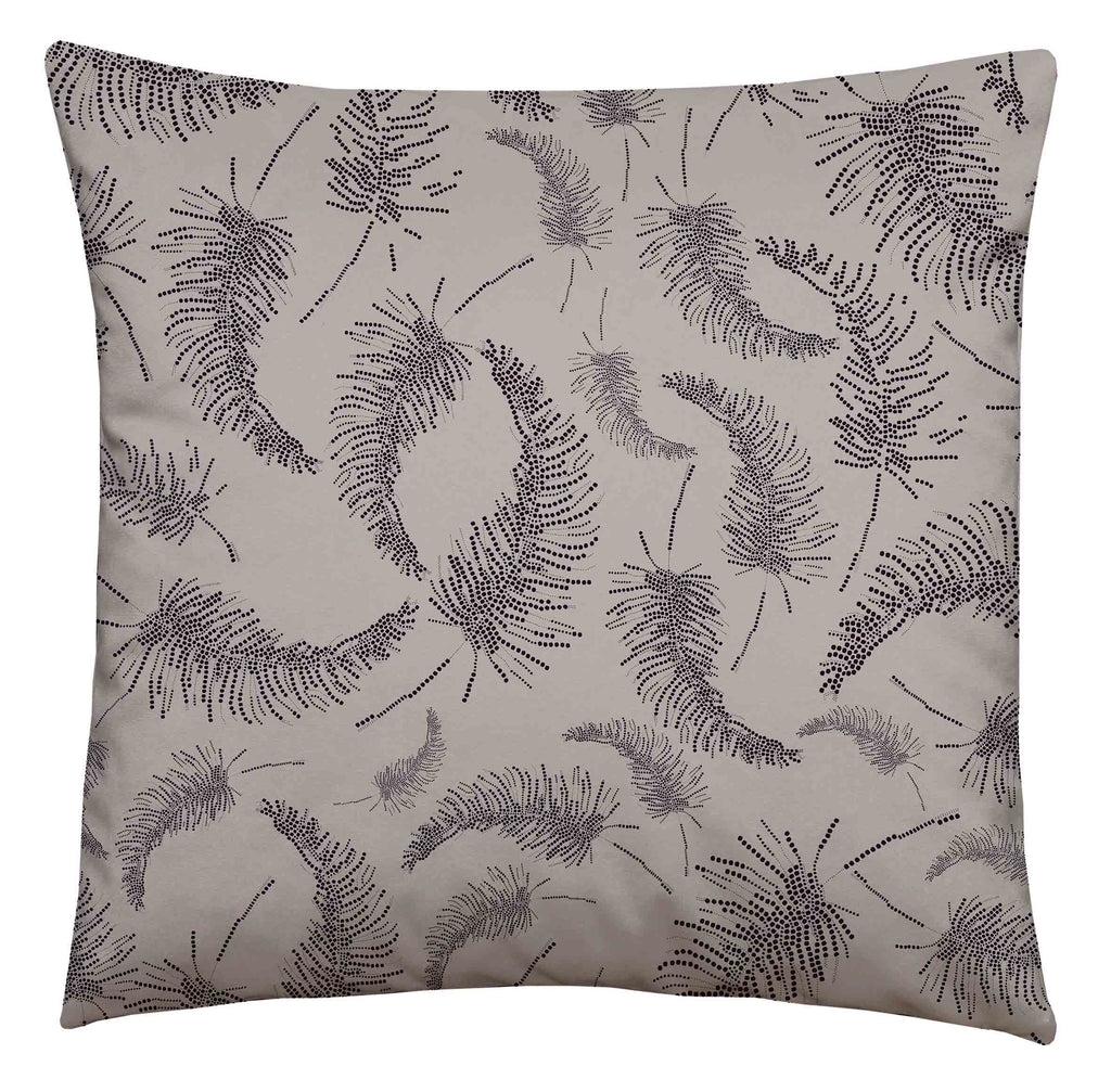 Palm Feather Square Cushion Lilac/Aubergine
