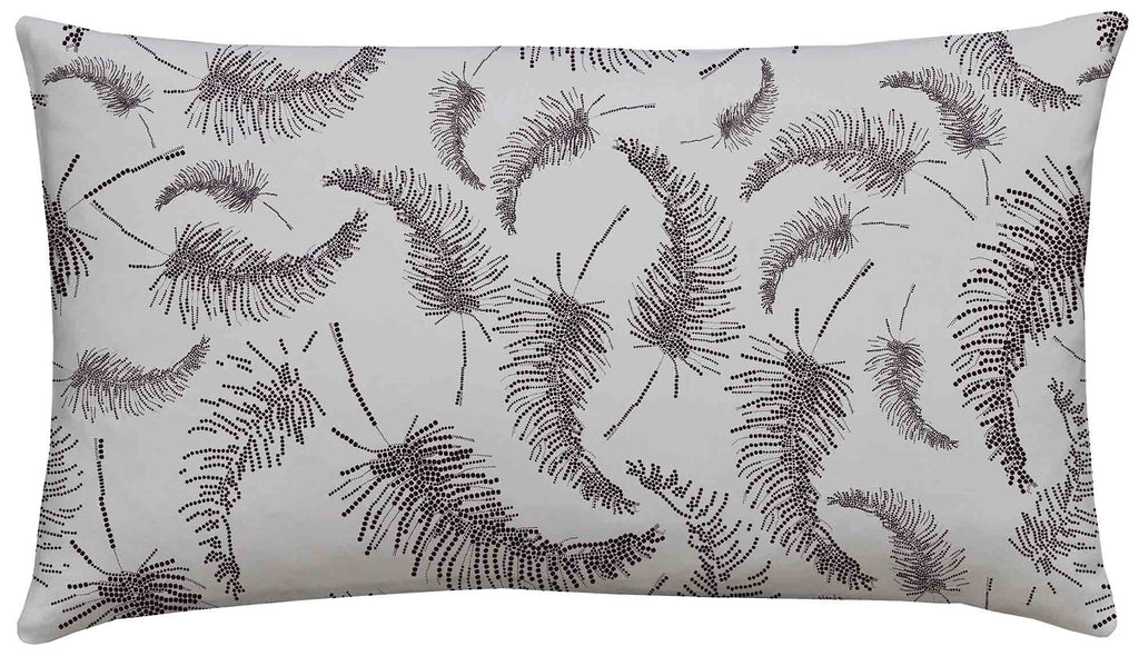 Palm Feather Scatter Cushion Lilac/Aubergine