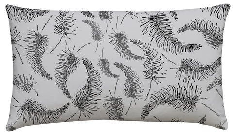 Palm Feathers Scatter Cushion Carbon