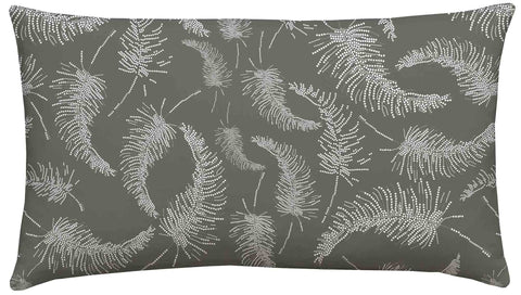 Palm Feather Silver Scatter Cushion