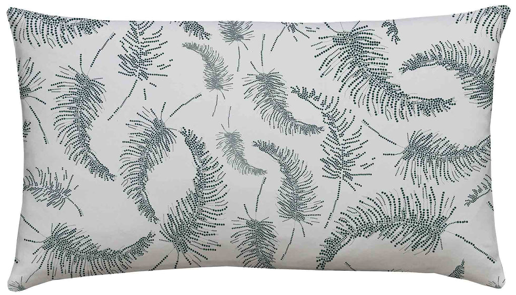 Palm Feathers Teal Scatter Cushion