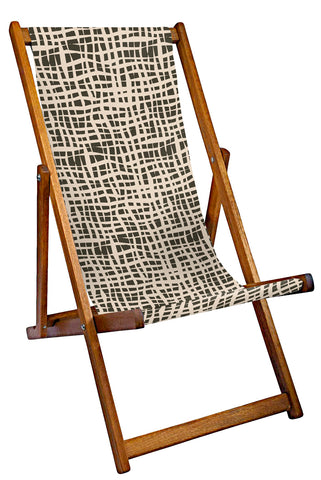 Cross Hatch Deckchair Coal