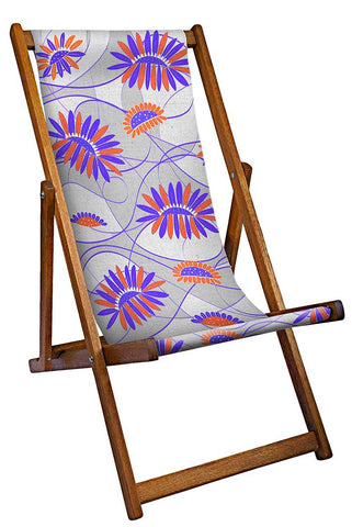 Orange And Blue Deckchair
