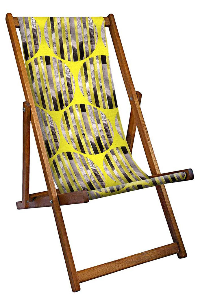 Yellow Stencil Deckchair