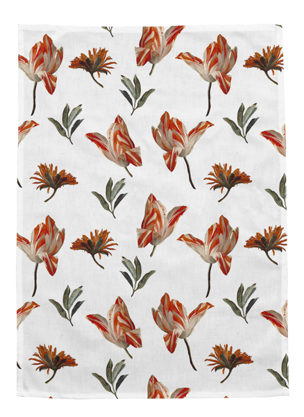 Ashmolean - Flowers and Sprig Teatowel