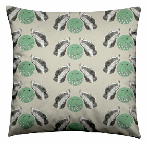 Forest Badger Cushion