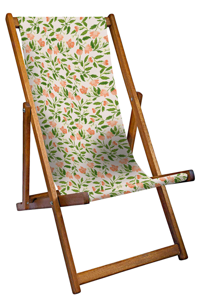 Painted Florals Deckchair