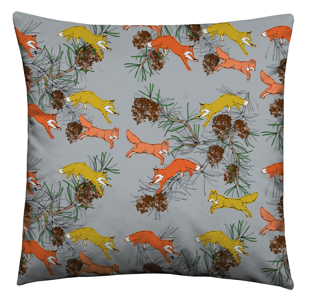 Leaping Fox Cushion