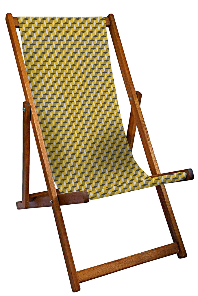 Yellow Geometric Deckchair