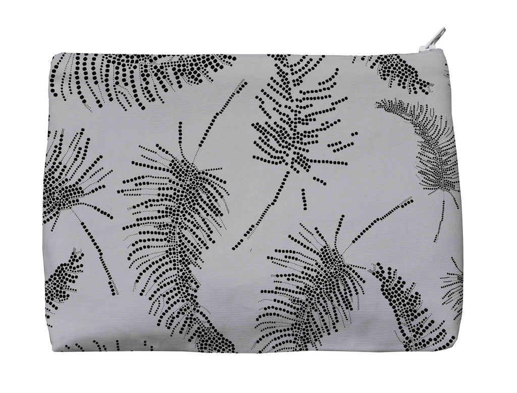 Palm Feathers Carbon Medium Washbag