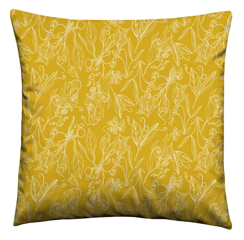 Mustard Florals Cushion