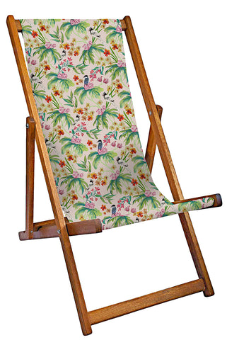 Products Paradise Print Deckchair - Pale Pink
