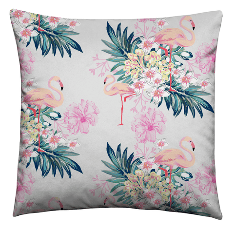 Pastel Pink Flamingos Cushion