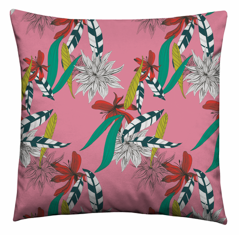 Pink Feathers Cushion