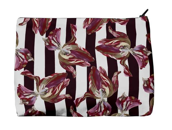 Ashmolean - Fallen Tulip Stripe Washbag Medium
