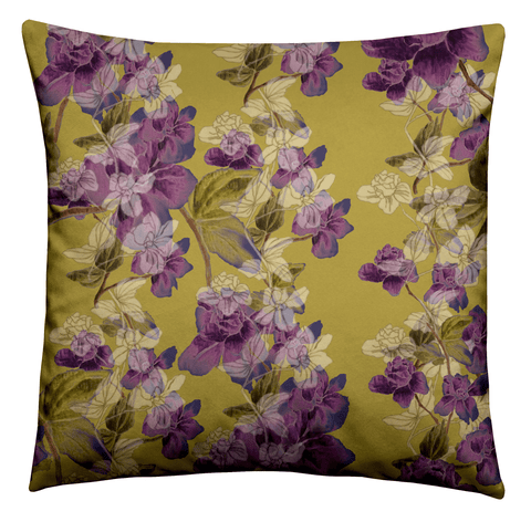 Purple Floral Cushion