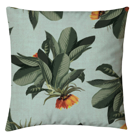 Tropical Palms Cushions - Pale Blue