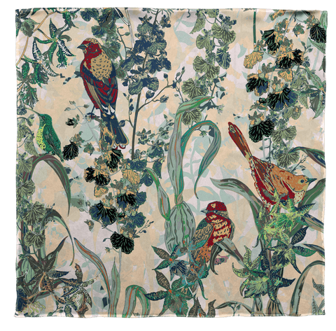 Vintage Birds in Paradise Scarf