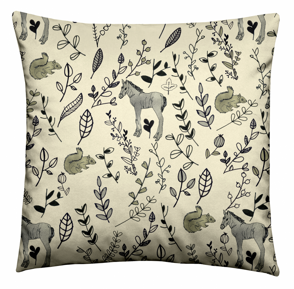 Woodland Creatures Cushion