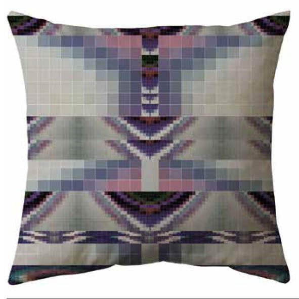 Abstract Geometric Velvet Cushion