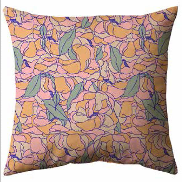 Fluid Mosaic Cushion