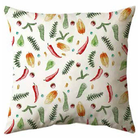 Vegetables Falling Velvet Cushion