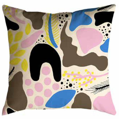 Playful Colour Velvet Cushion