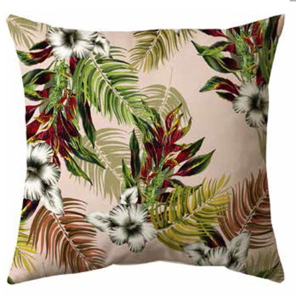 Botanical Hawaii Velvet Cushion
