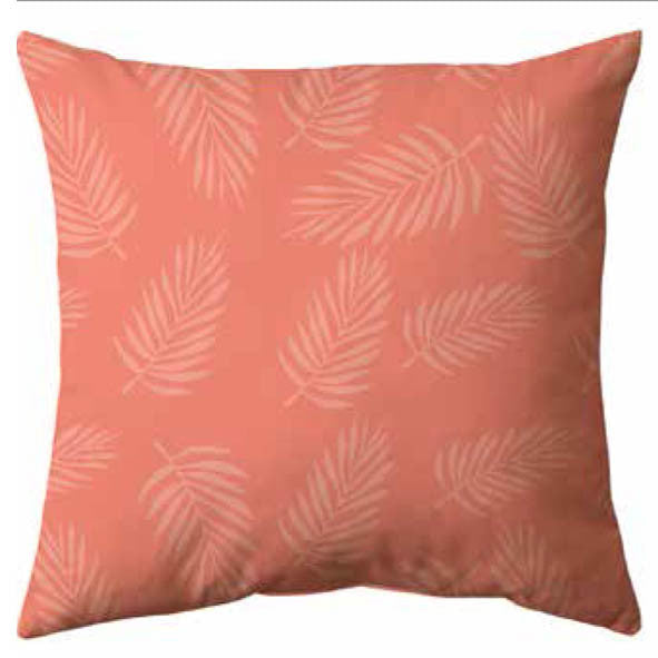 Pink Falling Fern Velvet Cushion